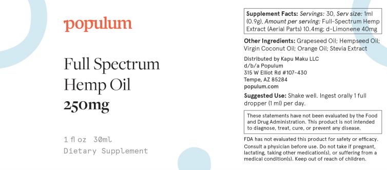 Populum Ingredients