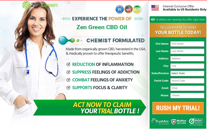 buy zen green cbd oil