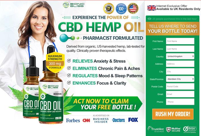 order Bionic Bliss Organic CBD Oil