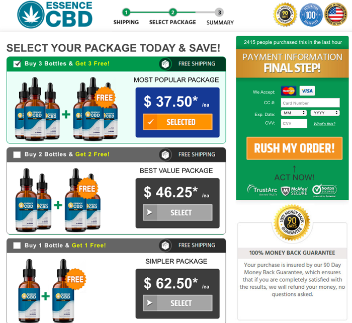 Essence CBD Pure Oil Price