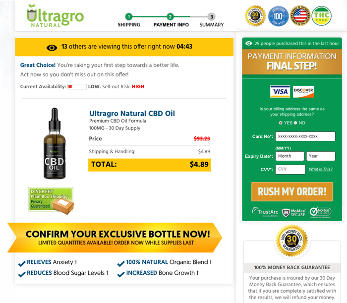 Order Ultragro Natural CBD Oil Trial