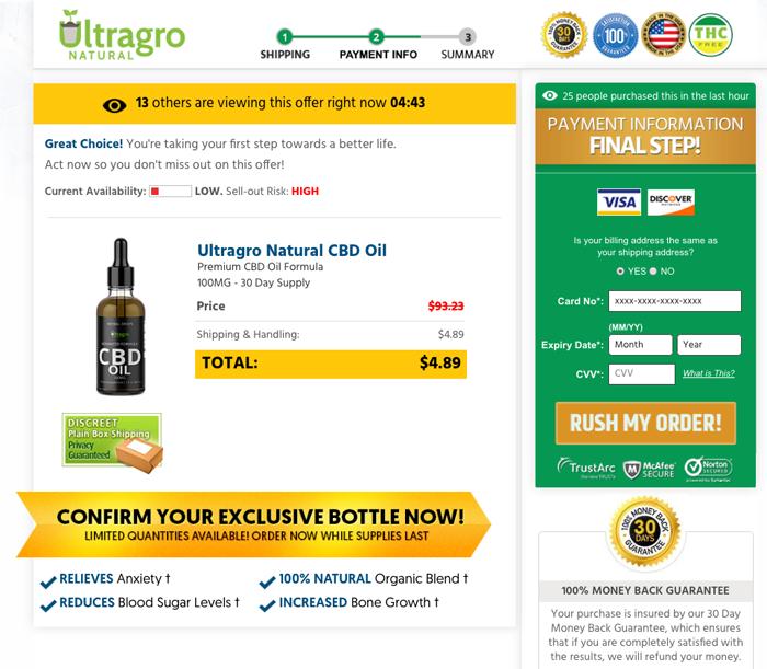 Order Ultragro Natural CBD Oil Trial