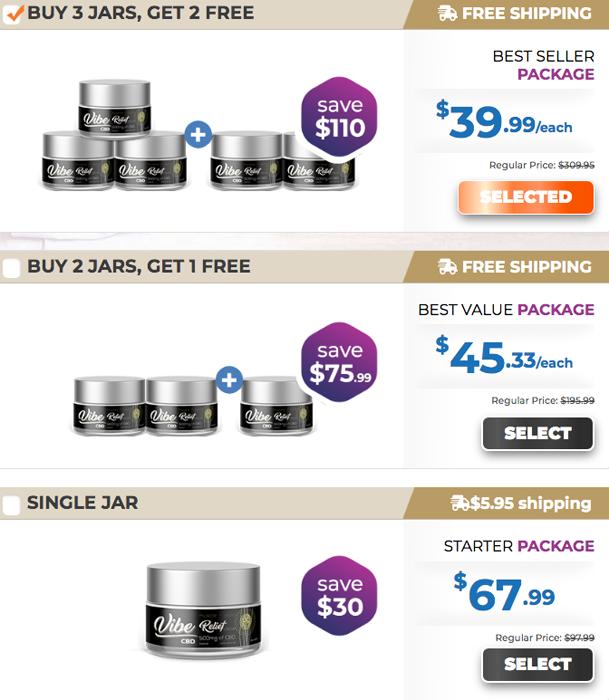 Vibe CBD Cream price