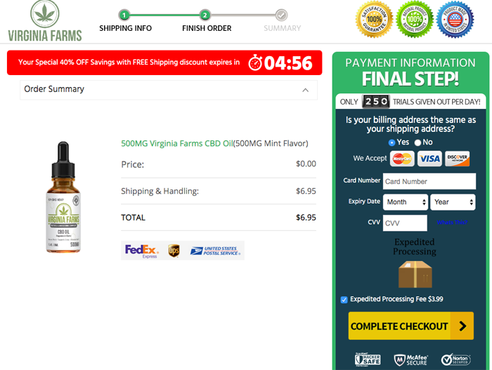Order Virginia Farms CBD Oil  Trial