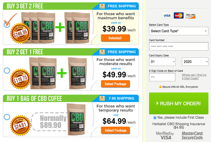 CBD Ground Coffee Price