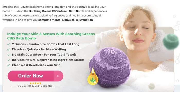 Soothing Greens CBD Bath bombs reviews