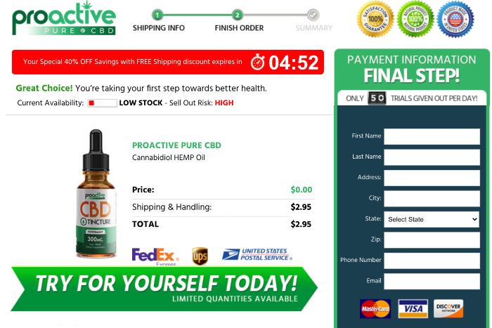 proactive pure cbd oil Trial
