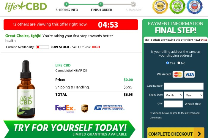 Life CBD Oil price