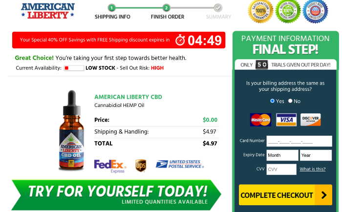 American Liberty CBD Oil Price