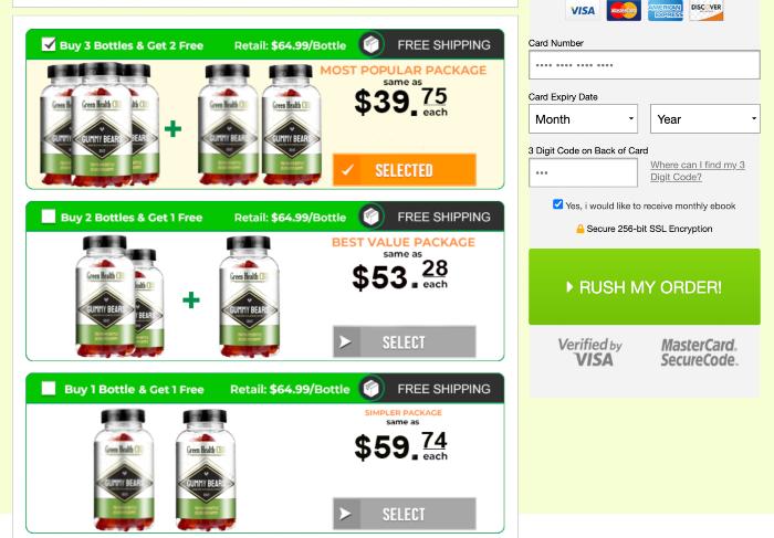 Green Health CBD Gummies Price