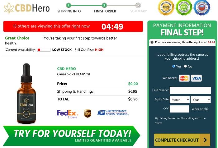 CBD Hero Oil Price